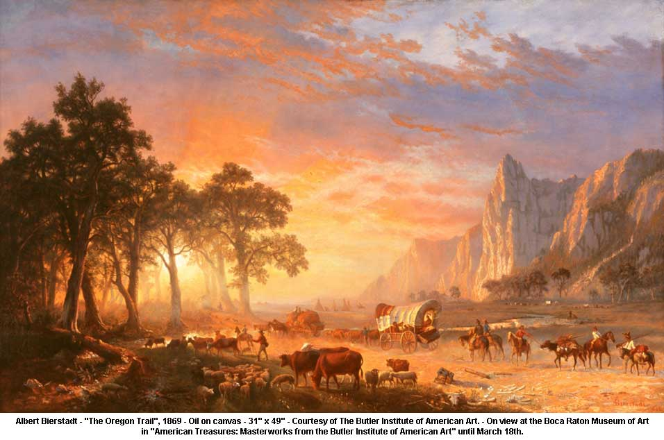 "Albert Bierstadt ""The Oregon Trail"""