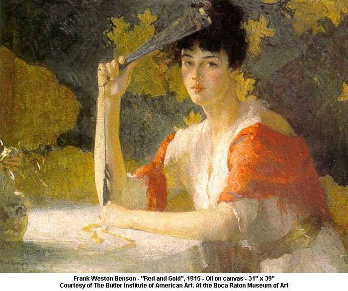 "Frank Weston Benson ""Red and Gold"""
