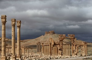 The ancient oasis city of Palmyra, a Unesco World Heritage site, last year. The ruins have been in jeopardy since the Islamic State seized the city in May. Credit Joseph Eid/Agence France-Presse — Getty Images